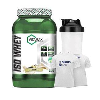 Whey Iso Protein Isolado + Shaker + Camiseta G - Vitamax