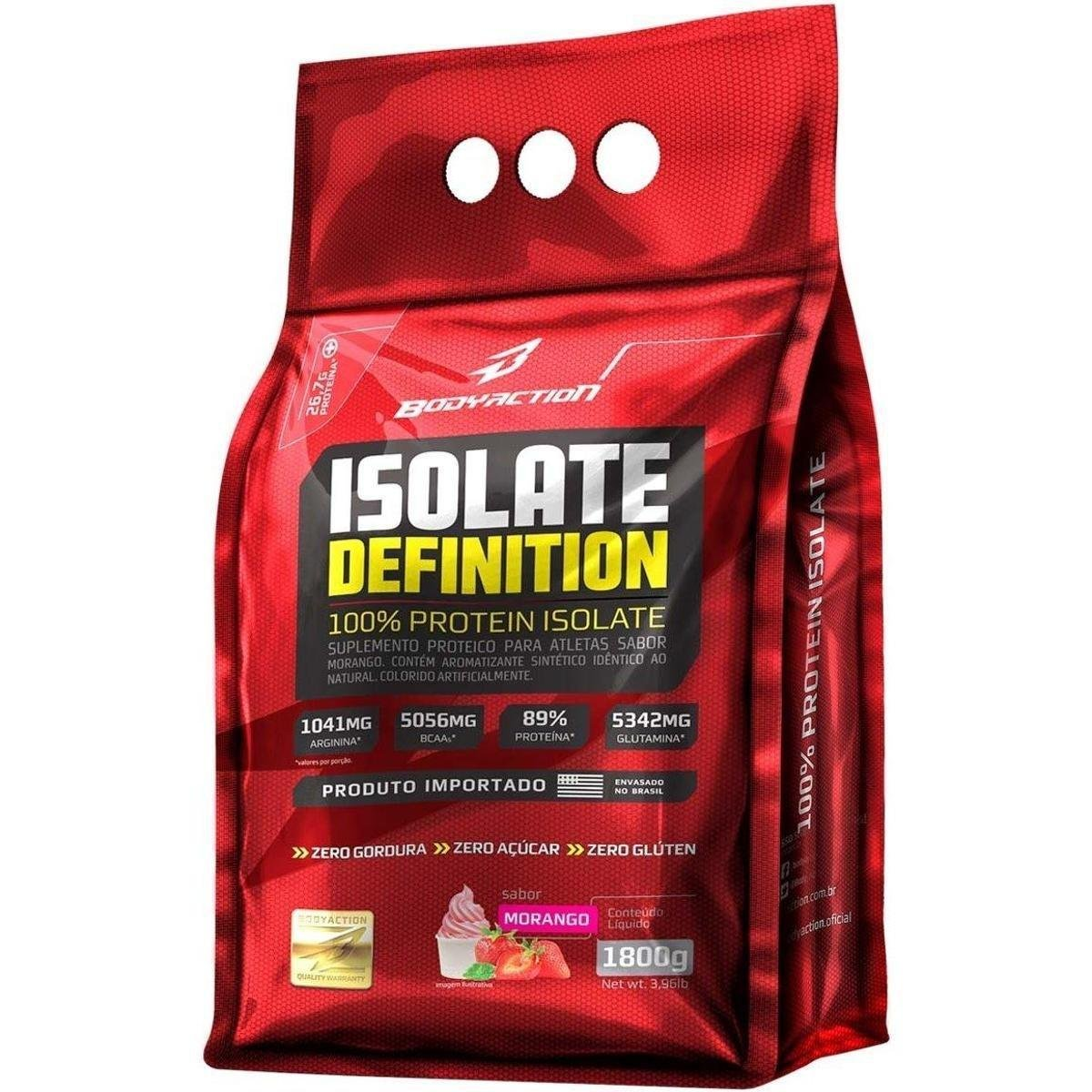 Whey Isolate Definition Body Action - 1,8kg - Morango ...