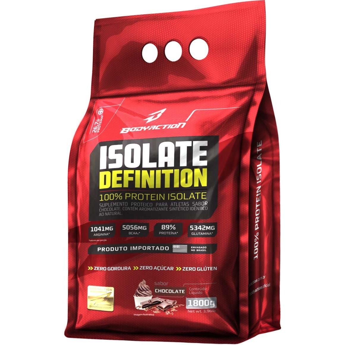 Whey Isolate Definition Body Action - 1,8kg - Chocolate ...