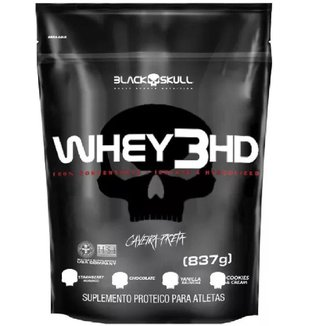 Whey Protein 3hd 837g Refil - Black Skull