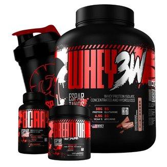 Whey Protein 3w 1,8kg + Bcaa + Creatina + Shaker