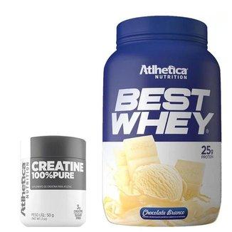 Whey Protein Best Whey 900g + Creatina 100% Pure 50g - Atlhética Nutrition
