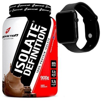 Whey protein Isolado 100% - BodyAction + Relogio Wey