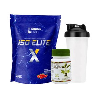 Whey Protein Isolate 900g + Adoçante Natural 20g + Shaker