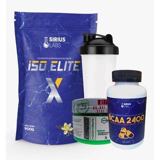 Whey Protein Isolate 900g + Creatina 100gr + Bcaa + Shaker