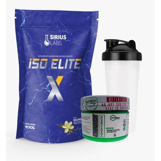 Whey Protein Isolate 900g + Creatina 100gr + Shaker