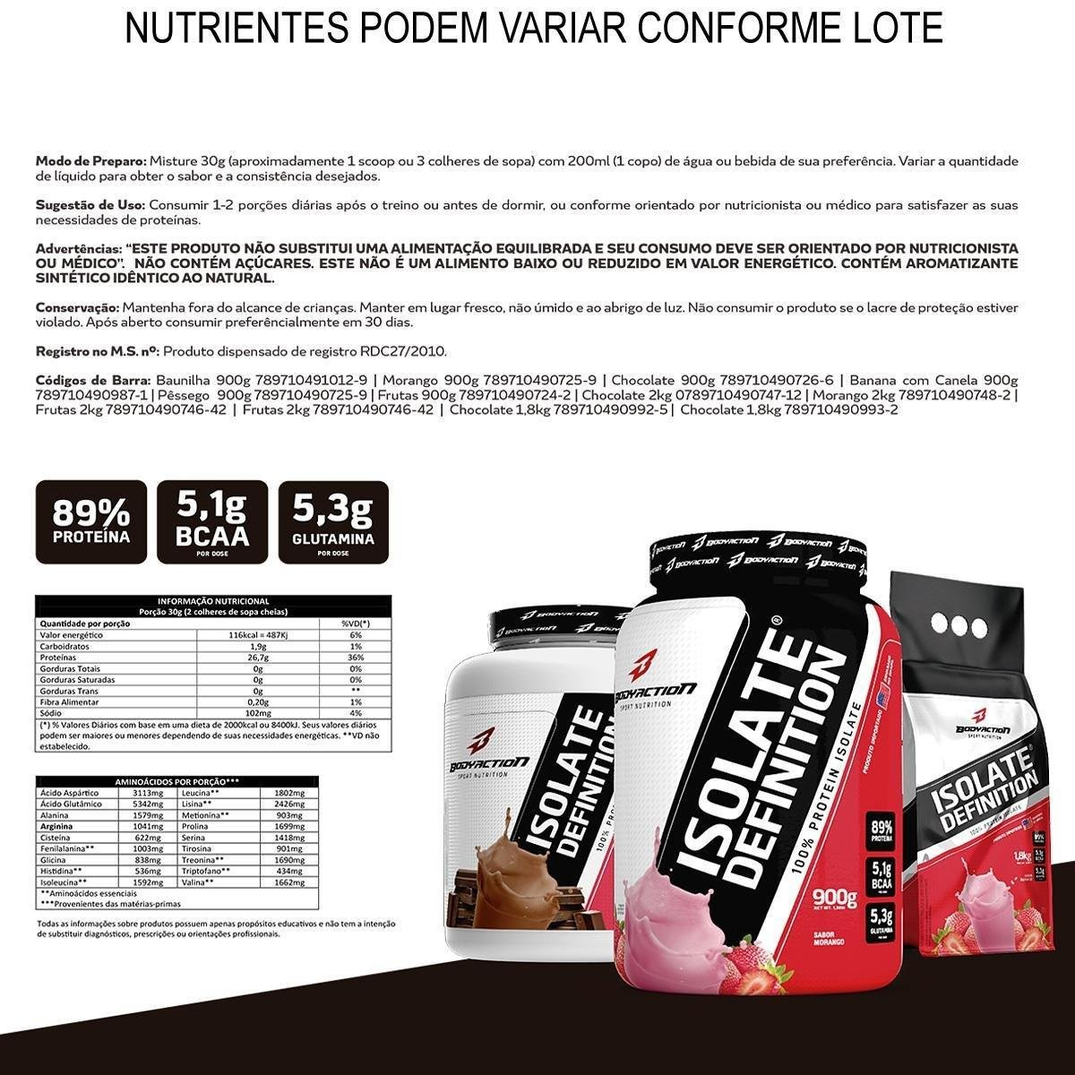 Whey Protein Isolate Definition 2Kg - Frutas   Netshoes