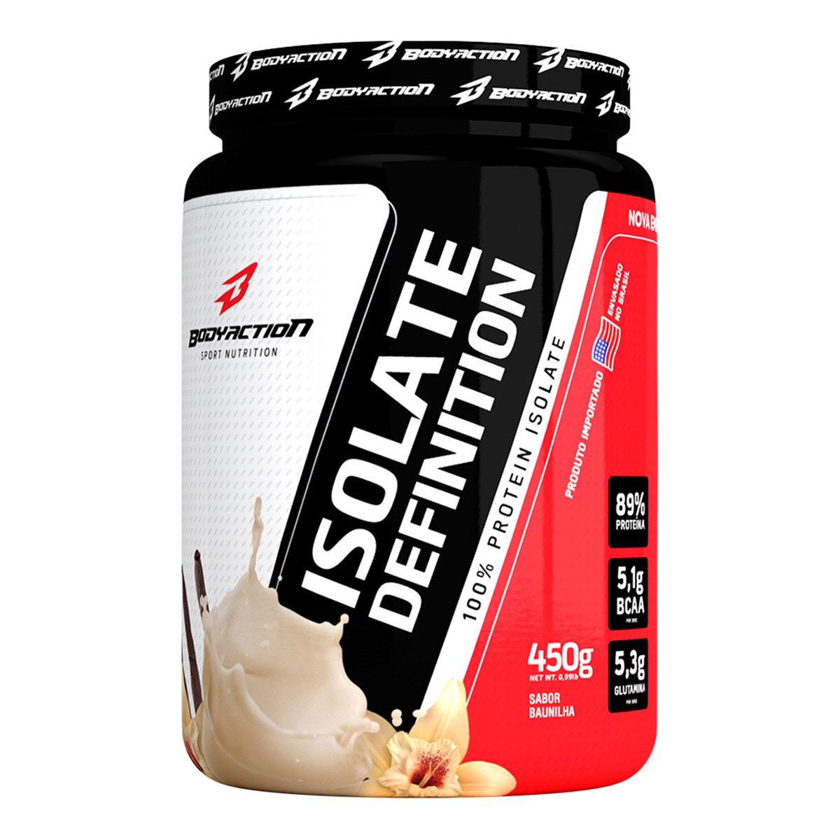 Whey Protein Isolate Definition 450G - Body Action   Netshoes