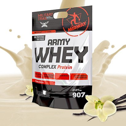 Whey Protein Military Trail Concentrado Army Whey 900 g - Midway USA
