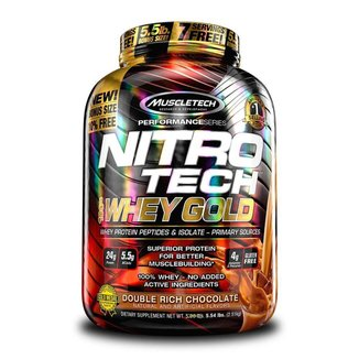 Whey Protein Nitro Tech 100% Whey Gold 5,53Lbs - Muscletech