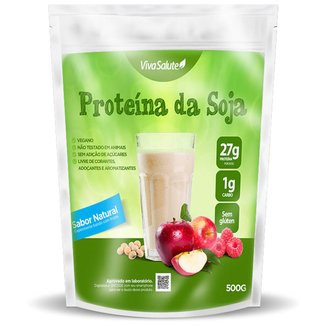 Whey Protein Proteína Concentrada da Soja Viva Salute Soy 500 g