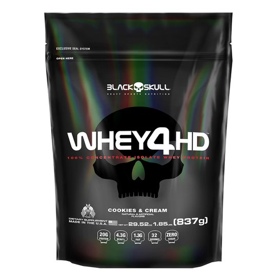 Whey Protein Refil 4 HD 837 g - Black Skull -