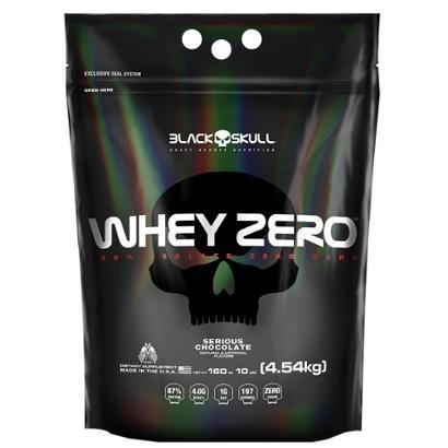 Whey Zero Chocolate 4,420 Kg - Black Skull - Unissex