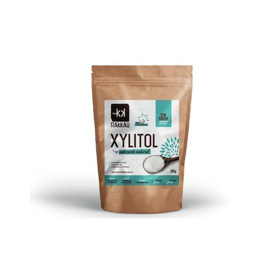 Xylitol Adoçante Natural Sem Sabor 300g Rakkau -