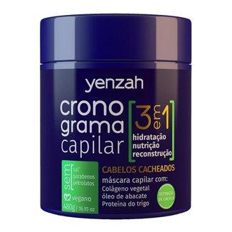 Yenzah Cronograma Capilar Cachos - Máscara Capilar para Cabelos Cacheados 480g