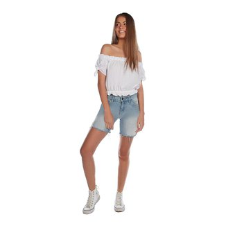 Zinco Bermuda Zinco Slim Detalhe Tachas Jeans