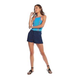 Zinco Body Zinco Decote Quadrado Alça Bicolor Azul