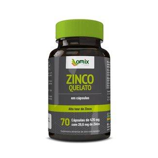 Zinco Quelato - 70 cápsulas - Omix