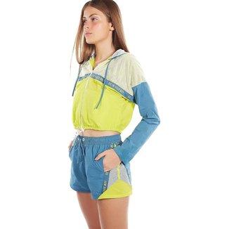 Zinco Shorts Zinco Boxer Composê De Tecidos Azul