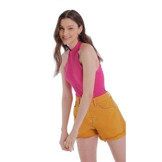 Zinco Shorts Zinco Five Pockets Barra Virada Mostarda