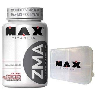 ZMA 90 cáps + Porta Cápsula - Max Titanium